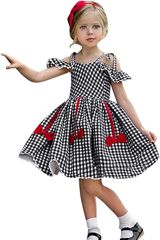 Vestido de niña, Riou Vestido para Bebés Ropa Falda sin Tirantes ...
