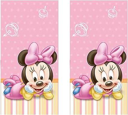 Amazon.com: Minnie mouse 1st fiesta de cumpleaños manteles ...