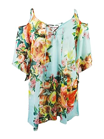 cff8086f30f Becca Etc by Rebecca Virtue Women's Plus Size High Tea Tunic Swim Cover Up  at Amazon Women's Clothing store: