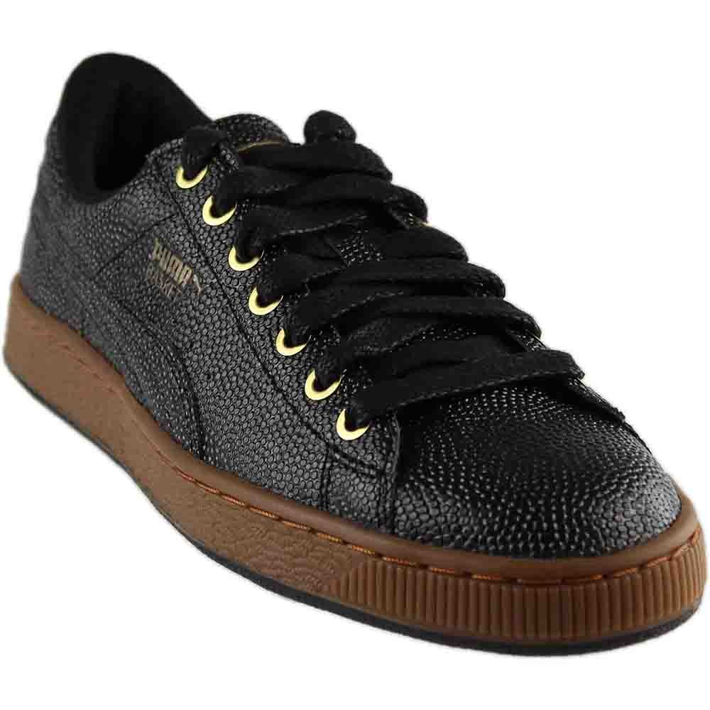 Puma Basket Bball Mens schwarz Patent Leather Lace Up Turnschuhe schuhe 11