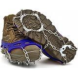 ZACCARY's (ザッカリーズ) 11本爪 アイゼン 凍結 路面 滑り止め スノー チェーン スパイク 遮光 防水 二種類の収納袋 セット