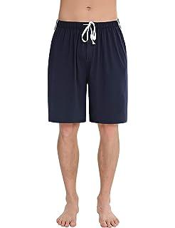 Abollria Pantalones Cortos de Pijama para Hombre Cintura elástica Ajustable y Bolsillo Lateral Pantalones Boxeador Verano Shorts: Amazon.es: Ropa y accesorios