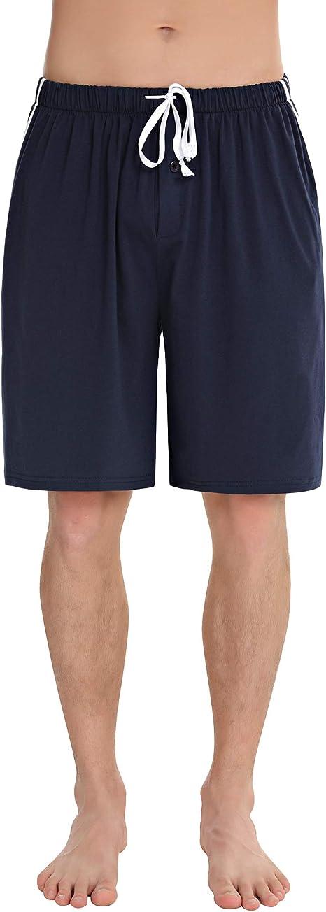 Aibrou Pantalones Pijama Hombre Corto Verano Algodón Pantalon para Dormir Casa Comodo y Suave: Amazon.es: Ropa y accesorios