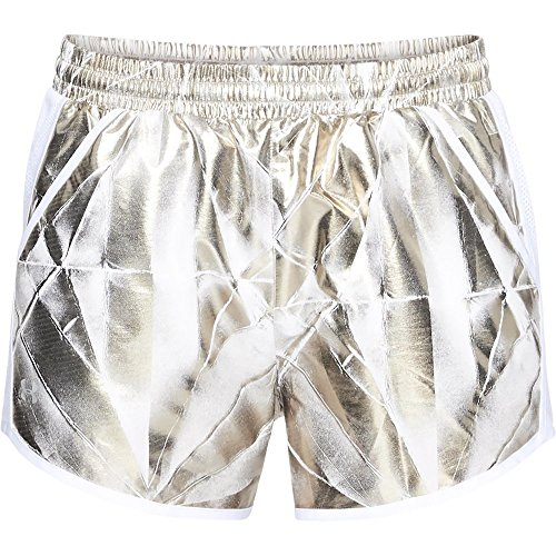Under Armour Women's Fly-By Perforated Shorts, Metallic Cristal Gol (996)/Reflective, Medium ()