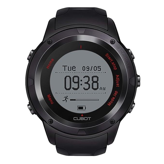 Tpu banda reloj inteligente con ritmo cardíaco, sueño inteligente de seguimiento, alarma, cronómetro, 240 mAh recargable: Amazon.es: Deportes y aire libre