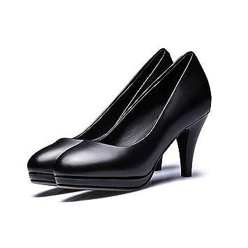 XUERUI Arbeitskleid Flugbegleiter einzelne Schuhe wasserdichte Plattform gut mit komfortablen Yaguan Schuhe Runde...