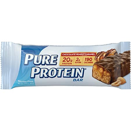 Pure Protein Chocolate Peanut Caramel Bar, 50 Gram Pack of 6