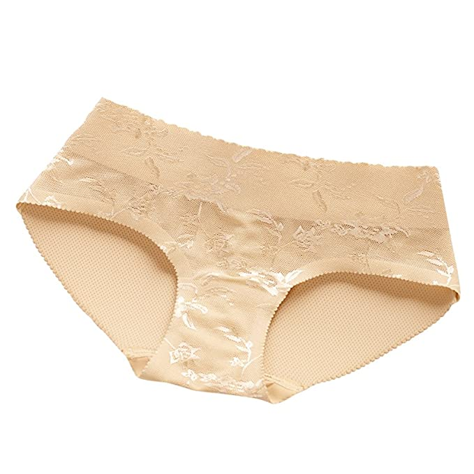 LINNUO Ropa Interior Acolchada Sin Costuras de La Mujer Femenina Botín Padded Panty
