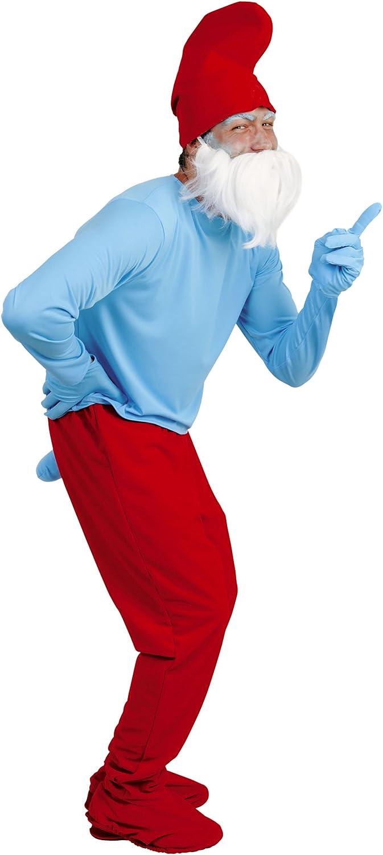Imps - Disfraz de papá pitufo con barba blanca y gorro rojo para ...