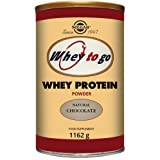 Solgar Whey To Go Natural Chocolate Flavour Whey Protein Powder 1162 g