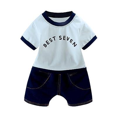 fcbbc75a058ae 6-24M Bebe Garcon Ete Tee shirt Ensemble Haut et Short Cotton
