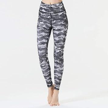 GSYJK Pantalones De Yoga para Mujer con Pliegues En El ...