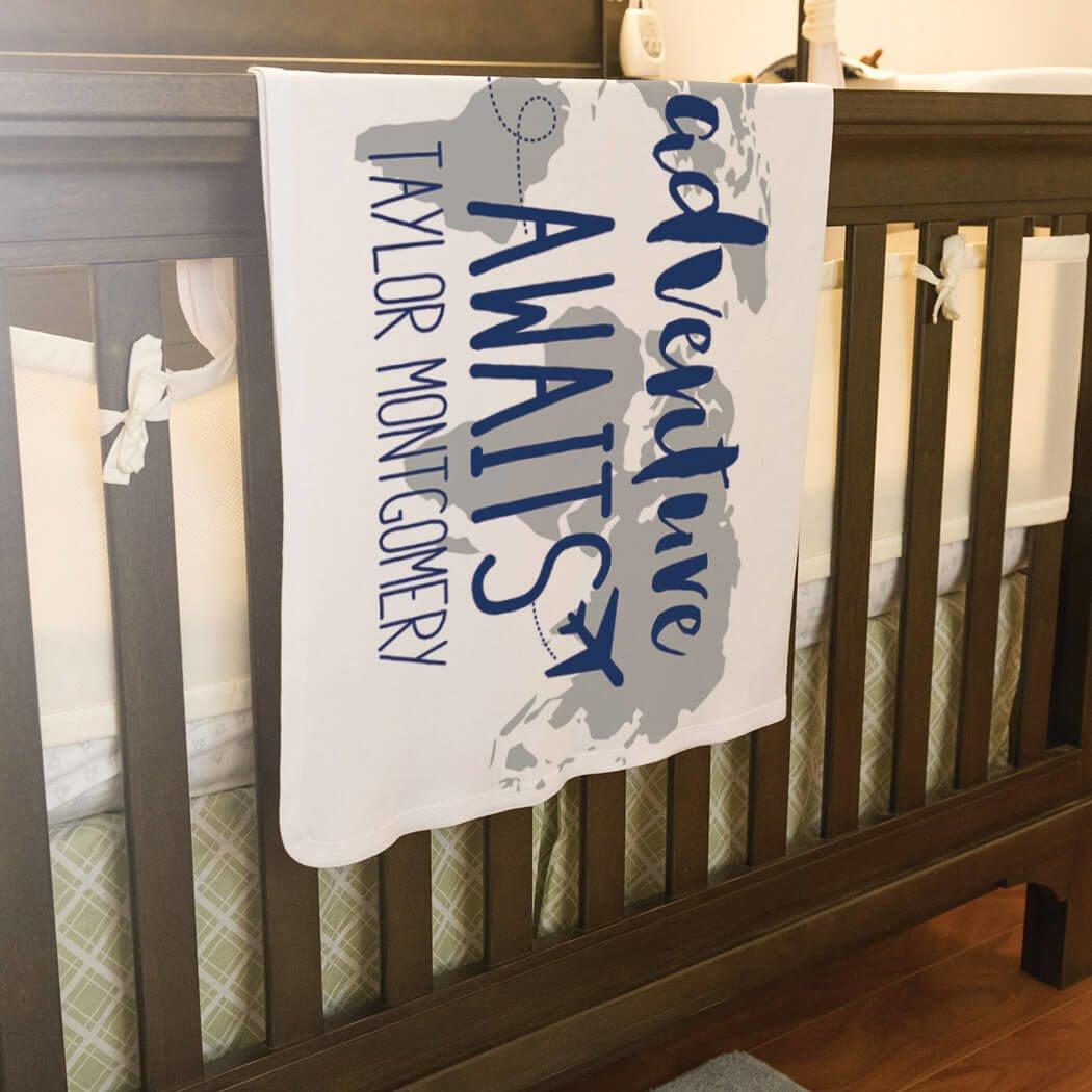 Baby & Infant Blanket | Adventure Awaits | Navy by ChalkTalkSPORTS (Image #4)
