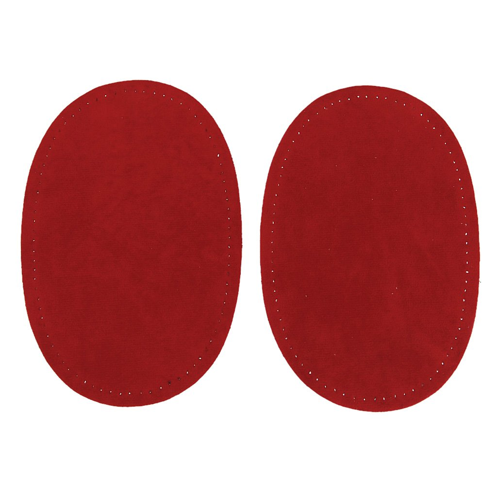 Brown Fityle 1 Pair Suede Sew-on Oval Elbow Knee Patches DIY Repair Sewing Appliques