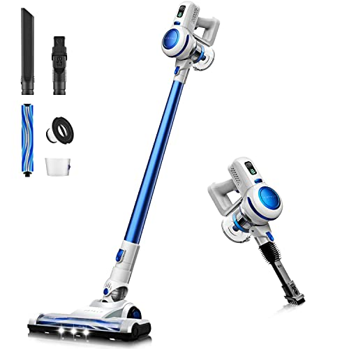 Orfeld Cordless Vacuum, Stick Vacuum Cleaner 2 in 1, 17 kPa Powerful Suction, Lightweight Handheld Vacuum with Detachable Battery, LED Brush for Deep Clean Pet Hair Carpet Hard Floor