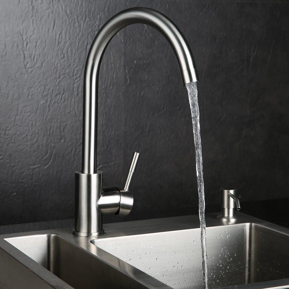 KINSE® 360° Schwenkbarer Gebürstet Wasserhahn Armatur aus ...