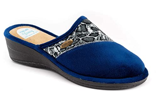 tiglio Pantofole Donna 2624MF Blu  Amazon.it  Scarpe e borse 94c618e2543