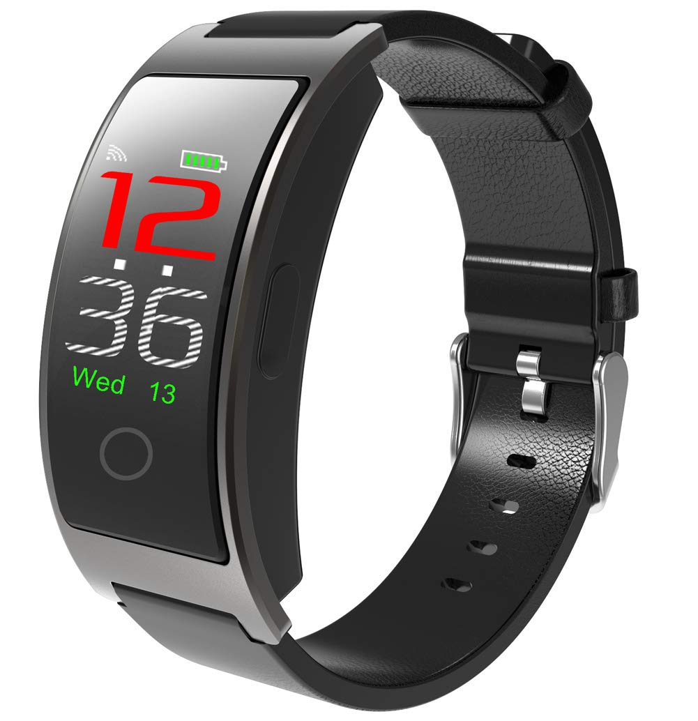 YANGYA Smart Bracelet with Step Calorie Counter 14 Sport Mode Activity Tracker for Android iOS Phones-Silver by YANGYA
