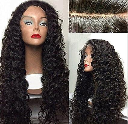 Remeehi a medida sin pegamento peluca Natural brasileño rizado Cabello humano pelucas naturales Bleach de líneas