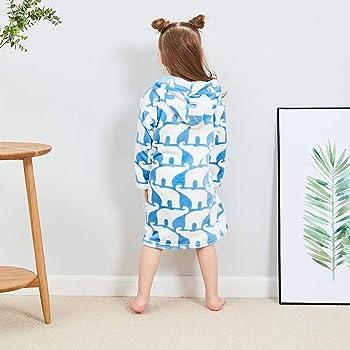 Teen Kids Toddler Baby Girls Boys Soft Flannel Night-Gown Pajamas Bath Cloak Hydrophil Bathrobe Clothes