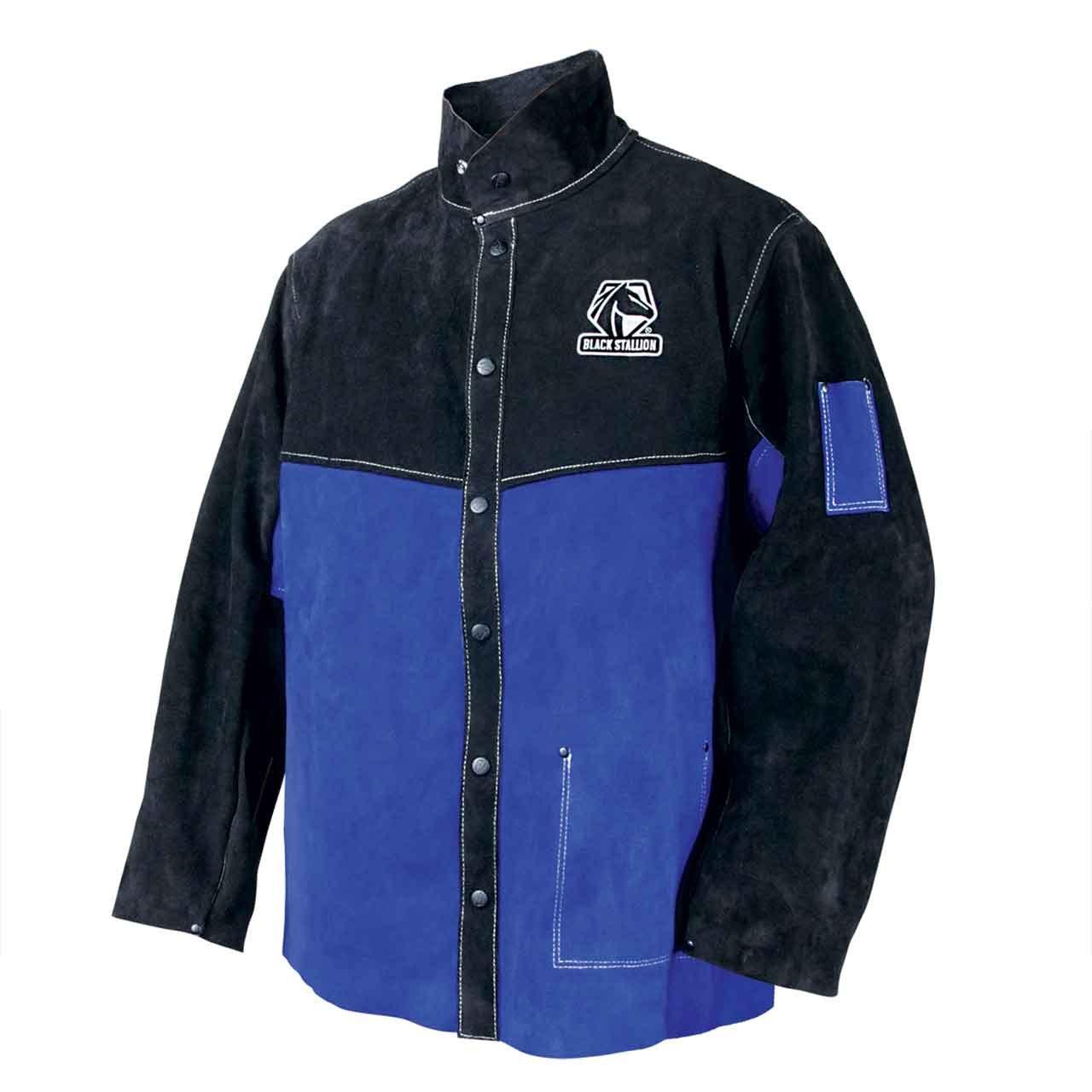 Black Stallion JL1030-BB Color Block Leather Welding Jacket, X-Large by Black Stallion