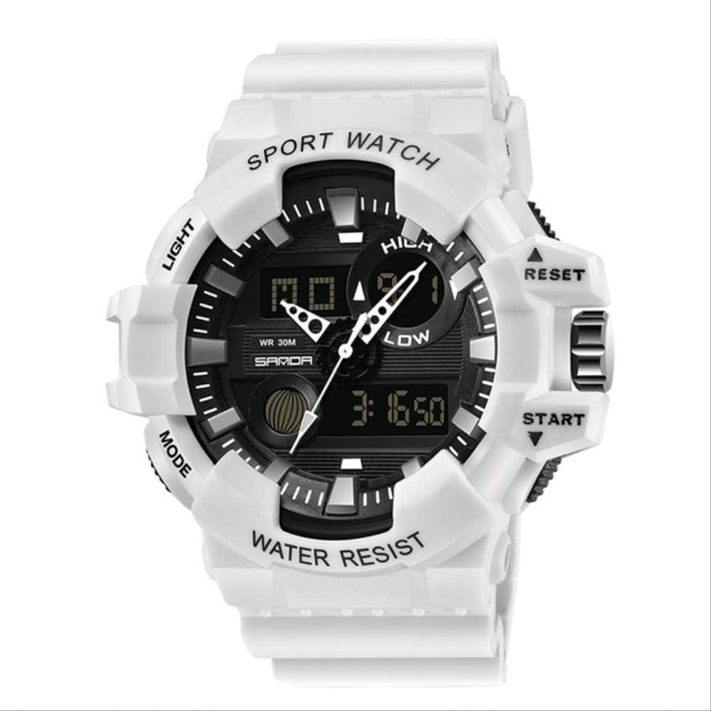 No Relojes Deportivos para Hombre Reloj Digital De Cuarzo Militar para Hombre Reloj De Pulsera Impermeable Estilo G Reloj Masculino Relogio Blanco