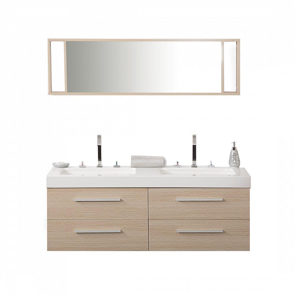 Badmöbelset mit Waschbecken - Badezimmer - Schrank und Spiegel ...