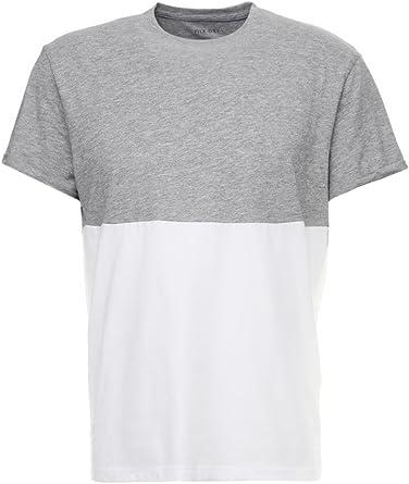 Pier One Camiseta de Hombre – Top de Dos Colores - Camiseta Básica, Gris/Blanco en Talla S: Amazon.es: Ropa y accesorios