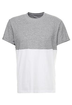 Pier One Camiseta de Hombre - Top de Dos Colores - Camiseta Básica ...