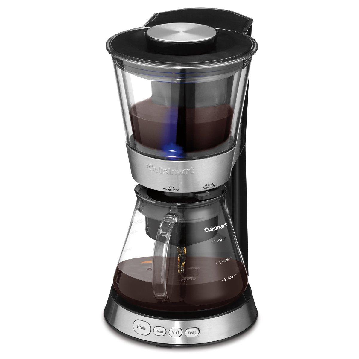 Silver CUISINART DCB-10C Automatic Cold Brew Coffeemaker Home ...