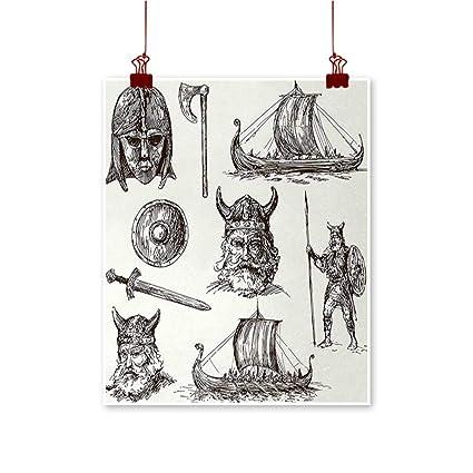 Amazon Com Jbgzzm Viking Abstract Painting Ancient War