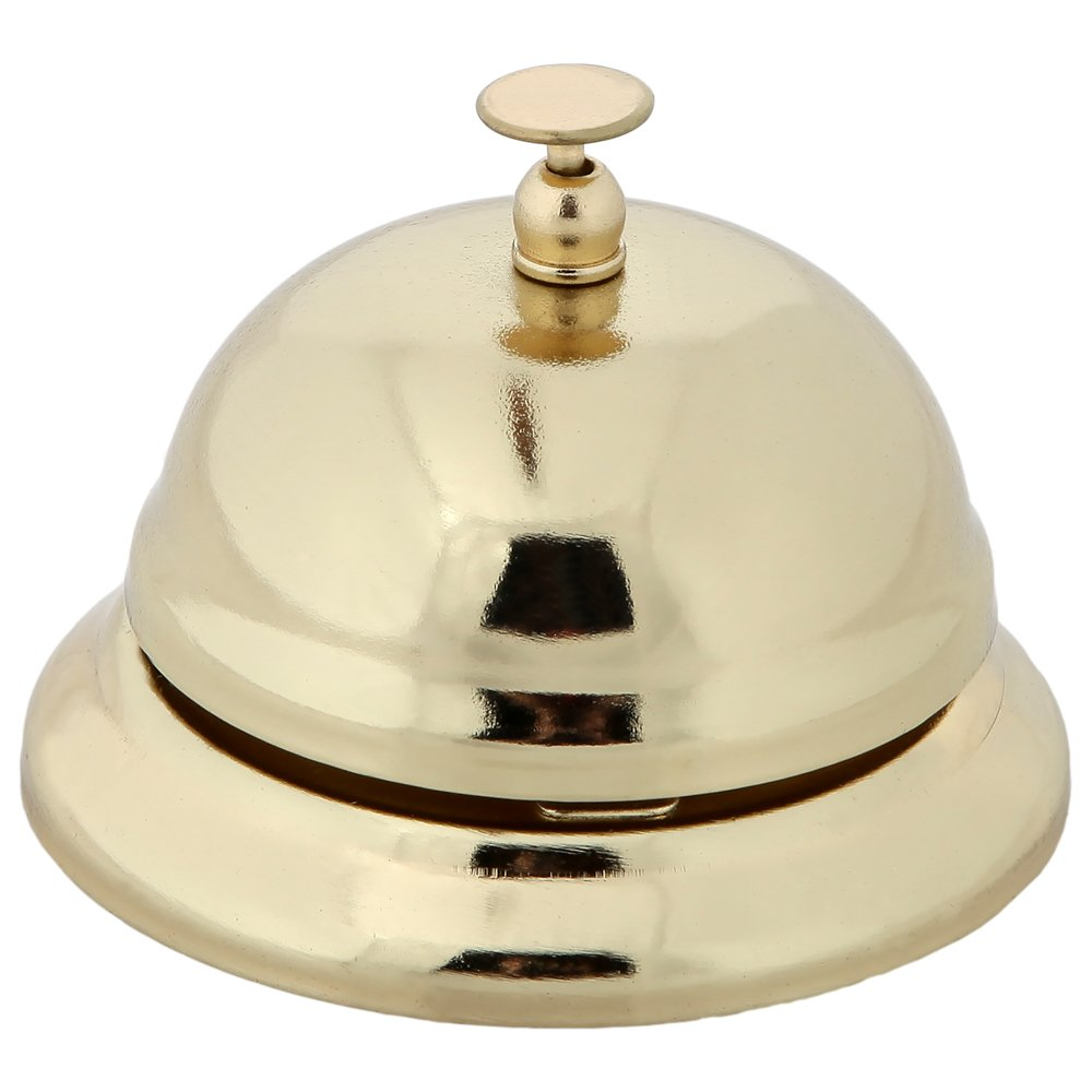 Home-X Hotel-Style Service Call Bell. Gold Finish