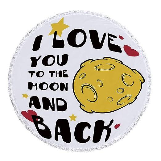 YOLIYANA I Love You - Toalla de playa redonda personalizada ...