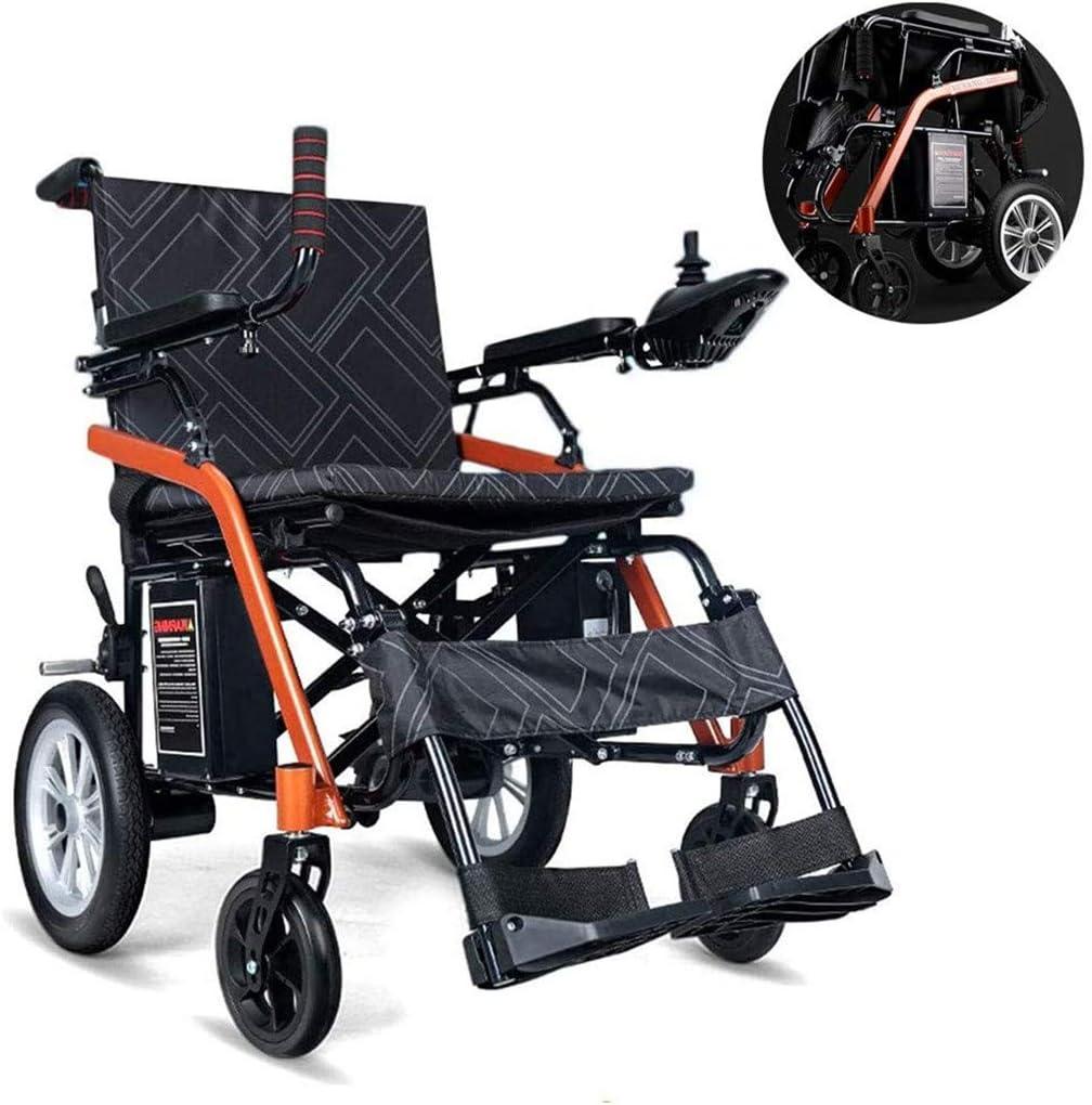Jacquelyn Silla De Ruedas Eléctrica Ligera Y Plegable, Potente Motor Doble, Anciano Discapacitado Coche Anciano Scooter Automático Inteligente 24 Kg
