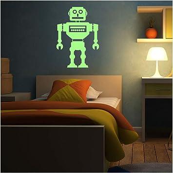 Fosforescente Vinilos decorativos robot aspirador - 55 x 40 cm ...