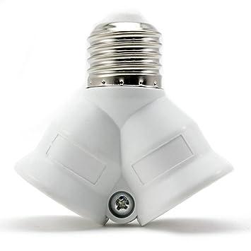 E27 Lampenfassung Konverter Adapter Lampensockel Splitter 100-230V