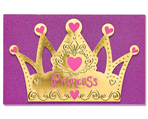 American Greetings Princess Birthday Greeting Card for Girl with Glitter