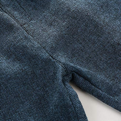 ベビー服 洋装 フォーマル スーツ シャツ ベスト パンツ 柔らかい 子供 紳士 誕生日 結婚式  - ブルーホワイト, 140cm(7-8T)