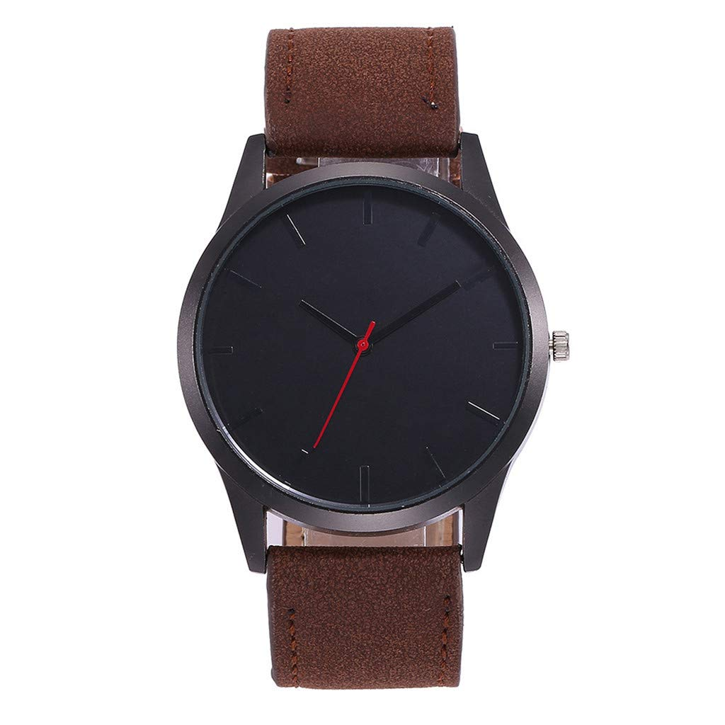 Mens Watches,Fxbar Simple Boy Friend Gift Bracelet Watches Fashion Leather Casual Analog Quartz Starry Wristwatch(Coffee)