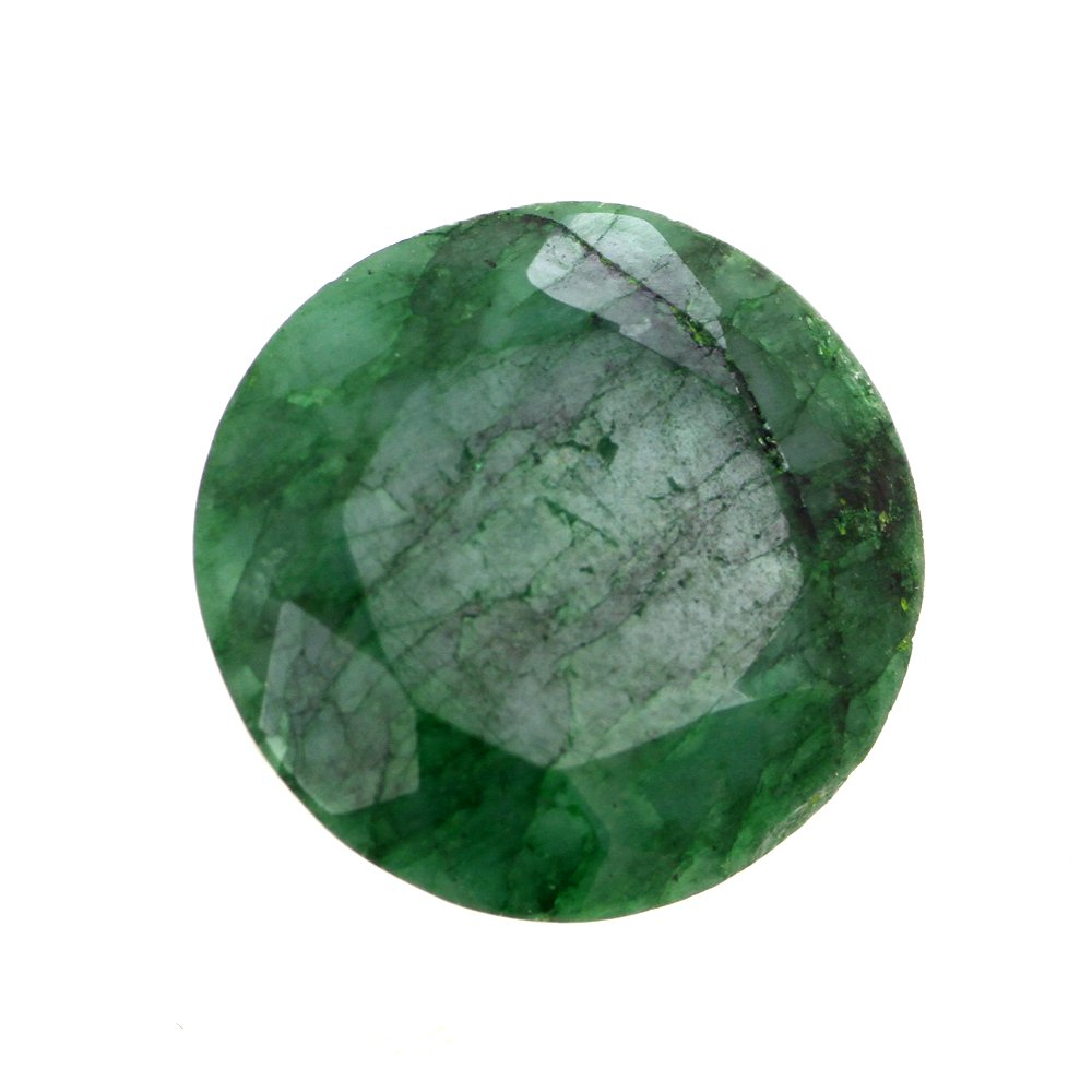 skyjewels Round Mixed 11 Cts Certified Emerald Panna Gemstone