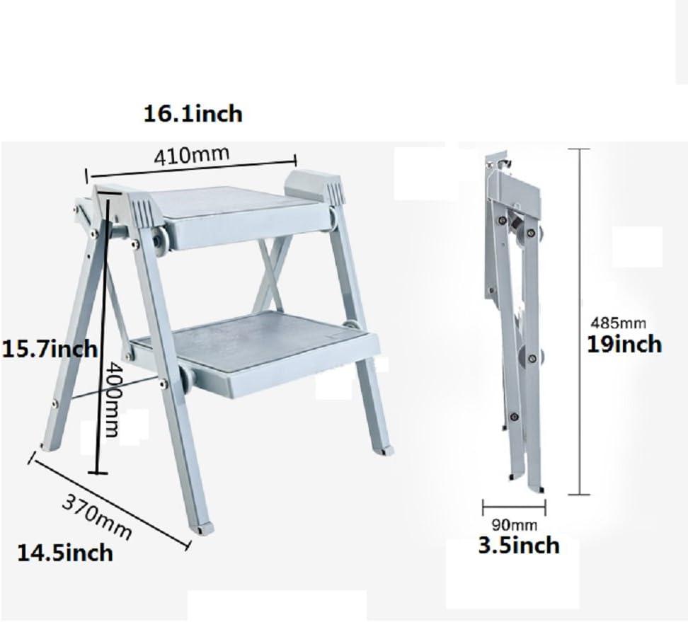 Denzihx Plegable Escabel Antideslizante Escalera,Metálico Portatil Adulto Niños 400 libras. Taburete-A: Amazon.es: Hogar