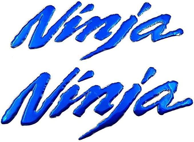 LIWENCUI Tanque de Gas Combustible Lado del Emblema de la Insignia Pegatinas Calcoman/ías Logo for Kawasaki Ninja 250R 125 250 250SL ZXR250 300 400 650 300R 650R 1000 Color : Blue