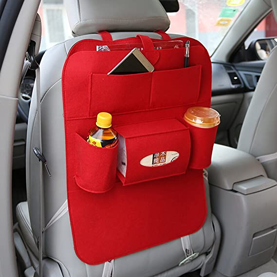 Vosarea Auto Rückenlehnenschutz Trittschutz Auto Rücksitz Organizer Für Baby Kinder Autositzschoner Autositz Aufbewahrungstasche Rückenschutz Rot Auto