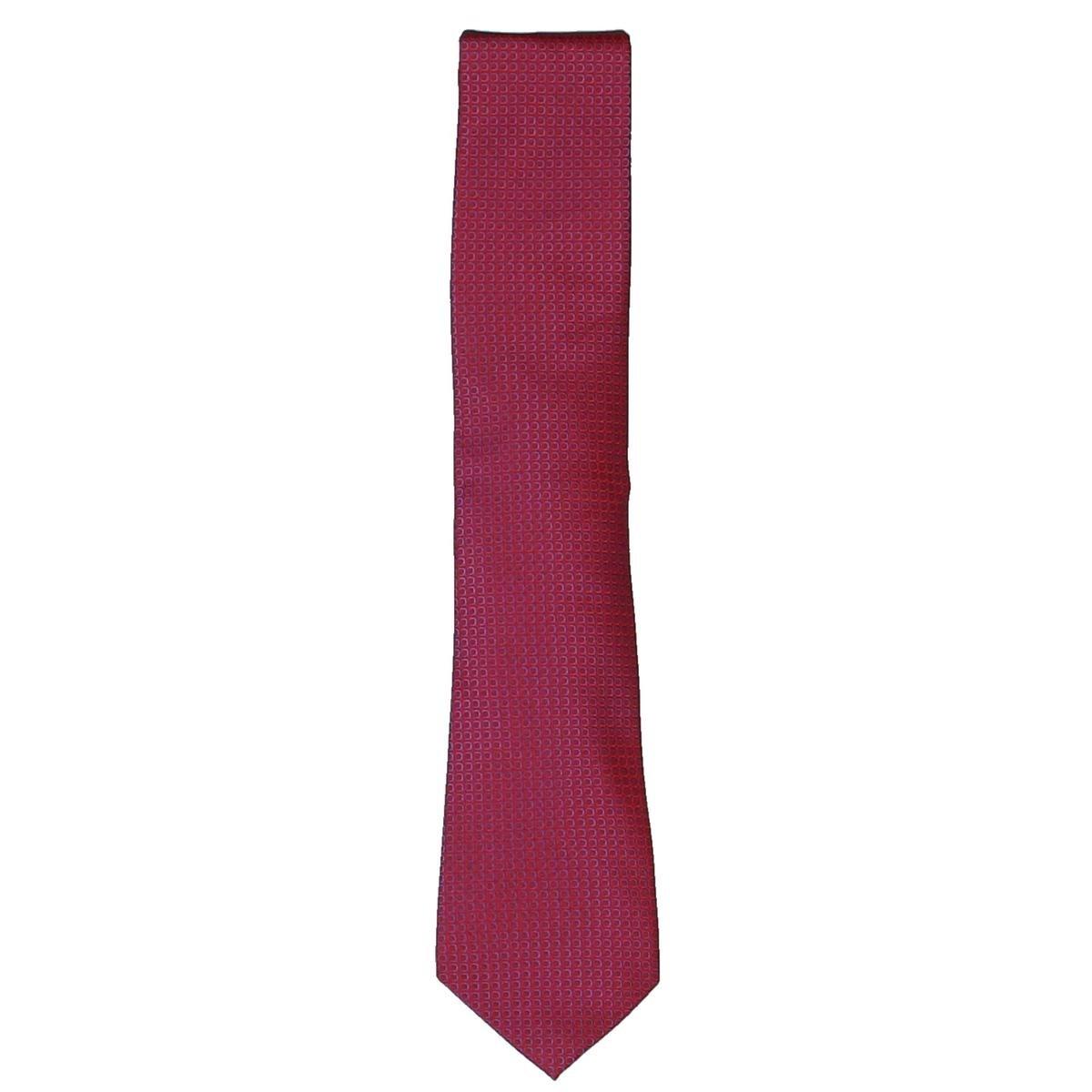 Geoffrey Beene Mens Dot Plot Silk Printed Neck Tie Red O//S