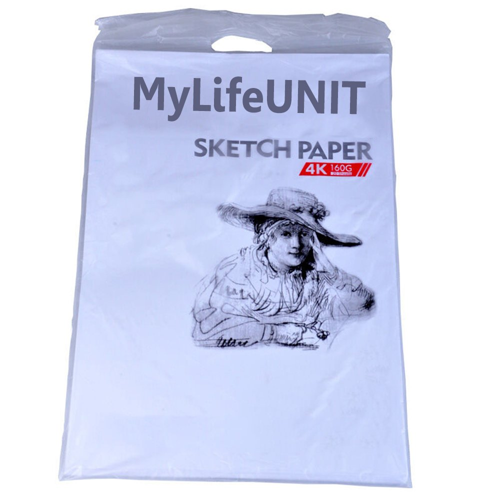 MyLifeUNIT Paper White Sketch - 20 x 15 inches Durable Sketching Paper SP16QH030