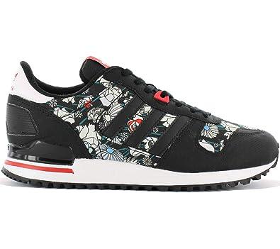 16ae979130c78a adidas Originals ZX 700 W Damen Schuhe Schwarz Blumen Muster Fashion ...