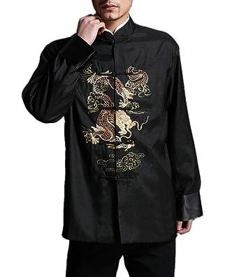 Tradizionale Giacca Dragone Cinese Soprabito Kung Fu Arti