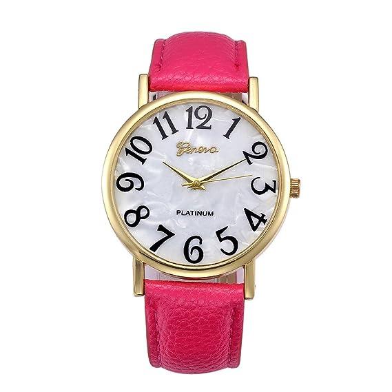 Reloj, Reloj de Mujer, Esfera Digital Retro, analógica, Cuarzo, Reloj de