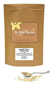 Be Still Farms Organic Thick Rolled Oats (5lb) Organic Rolled Oats - Whole Rolled Oats -Organic Oatmeal - Organic Rolled Oats Bulk - Oatmeal Bulk-Naturally Gluten Free-Non Gmo Oatmeal - Organic Oat