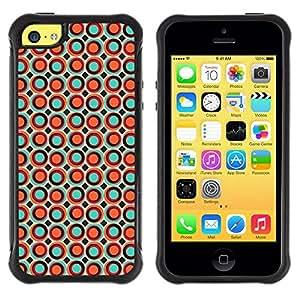 Paccase / Suave TPU GEL Caso Carcasa de Protección Funda para - Dots Spots Bubble Wallpaper Orange Colorful - Apple Iphone 5C